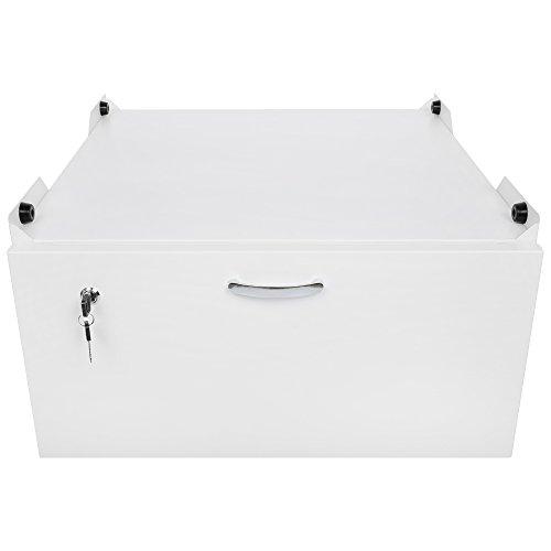Arkas WM-001-40 Unterbausockel mit Schublade für Waschmaschinen und Trockner, weiß
