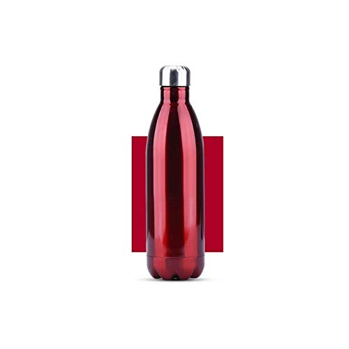 WEARRR 350/00 / 750 / 1000ml BPA de Doble Pared BPA Libre de Agua de Acero Inoxidable Cerveza Café Café Portátil Deporte Termos de vacío (Capacity : 500ML, Color : Red)