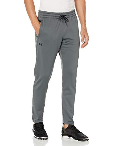 Under Armour Men's Armour Fleece Pants , Pitch Gray (012)/Black , Large