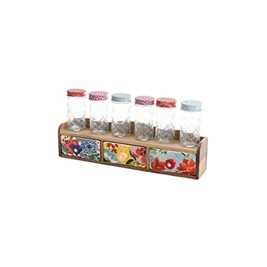 The Pioneer Woman Floral Medley 3 Drawer Spice Rack w Drawers