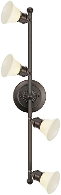 Rustikale Spotlampe Braun Creme Wei 4-flammig Ornament Wohnzimmerspot Landhausleuchte Innenlampe Flurleuchte 4er Spot Aufbauspot