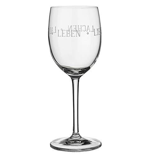 Räder Vino Rotweinglas Leben Lieben Lachen