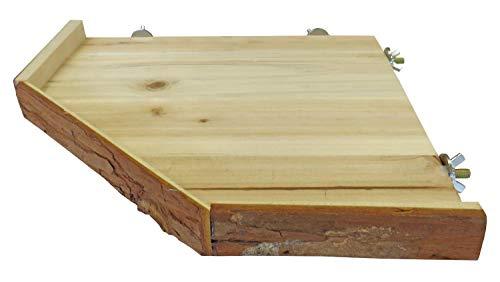 PETGARD Holzetage Nageretage Liegeplatz universell passend für Nagerkäfige 33 x 33 cm