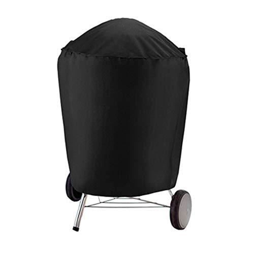 LSKZ Couverture De Barbecue Ronde Couverture De Barbecue en Plein Air Cache-PoussiÈRe ÉTanche À La CrÈMe Solaire Polyester Fibre Barbecue Couverture Noir Taille 75 * 70 Cm