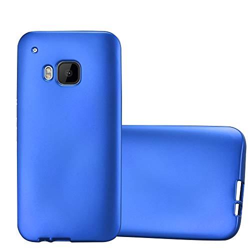 Cadorabo Funda para HTC One M9 en Metallic Azul - Cubierta Proteccíon de Silicona TPU Delgada e Flexible con Antichoque - Gel Case Cover Carcasa Ligera