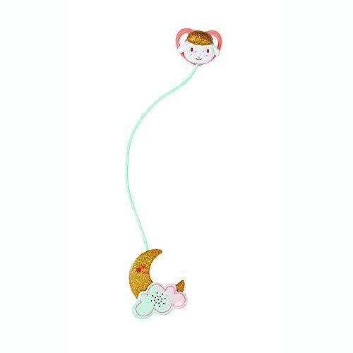 Zapf Creation 704219 Baby Annabell Sweet Dreams weiß goldener Schnuller mit Licht- und Soundfunktion