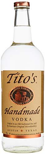 Tito´s Handmade Vodka aus 100% Mais, klar und sanft im Abgang dank 6-facher Destillation, Wodka Marke Nr. 1 in den USA, Made in Austin (Texas), 40% vol., (1 x 1.0 l)