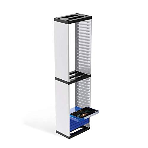 SASKATE Estante para Discos de Juegos, Soporte Vertical para Torre de Discos para Juegos, estantería para Almacenamiento de CD Multifuncional, Auriculares VR y Organizador de Videojuegos