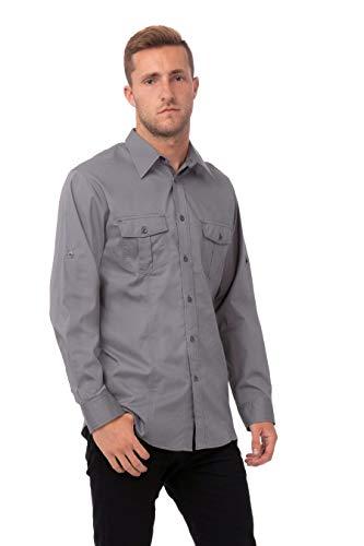 Uniform Works B212-XL Camisa piloto masculina, gris