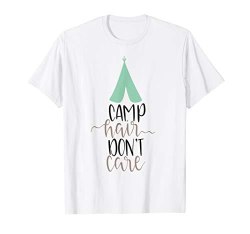 Camping Shirt Camp Haar Don 't Care Camper glamping Zelt Mom