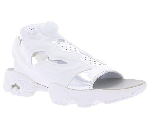 Reebok Classic Instapump Fury Sandal Mag Schuhe Damen Sandale Outdoor-Sandale Weiß mit Fersenriemen, Größenauswahl:37.5