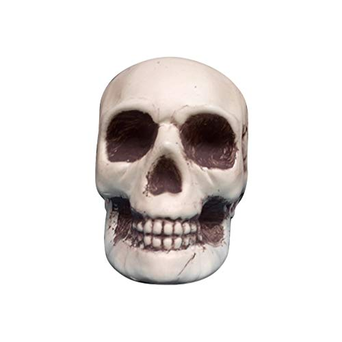 PRETYZOOM - Figura de calavera de plástico para Halloween