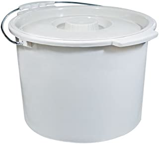 Drive Medical Commode Pail with Lid 12 Quart Gray, 2.38 Pound