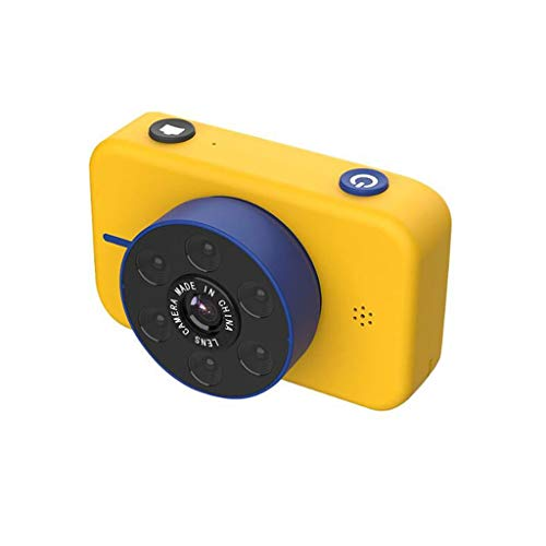 sknonr Kinder-Kamera 5000W Pixel 4K Ultra HD Digital-Dual-Kamera-Sport-Kamera Kinderspielzeug (Color : Yellow, Size : No SD Card)