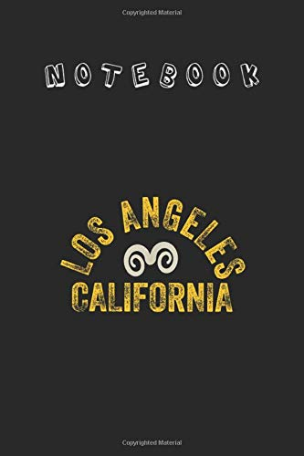 Notebook: 2020 La Ram Up Los Angeles La Football Fan Proports Gear Profesional Cover Design Notebok and Journal with Ruled Lined Size 6in x 9in for Student or Men and Women to Write and Study