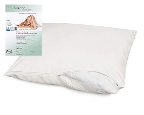 allsana Allergiker Kissenbezug 80x80 cm Allergie Bettwäsche Anti Milben Encasing Milbenschutz für Hausstauballergiker TÜV Zertifiziert