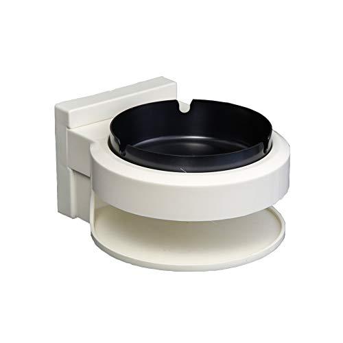 灰皿 ステンレス VSTYLE 分離式 灰皿 壁掛け式 両用 取り付け簡単 分離式灰皿 防水 防湿 洗いやすい 卓上 トイレ・浴室・洗面台など ブラック