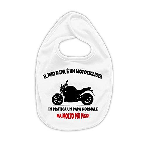 La Ruotante Babero de algodón 100 % para moto, moto, moto, motero, papá, babero, regalo de nacimiento, 8, Talla única