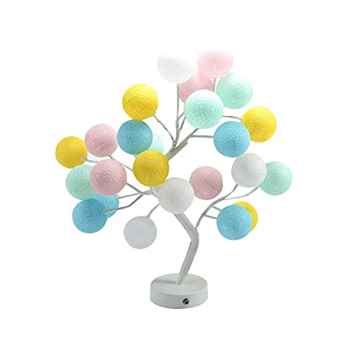 Nihlsen Led bola de algodón árbol luz linterna lámpara lámpara USB niña corazón decoración mesa dormitorio dormitorio dormitorio diseño romántico