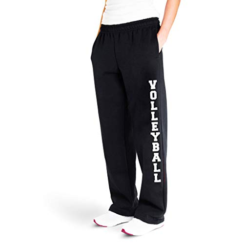Volleyball Sweatpants   Volleyball Apparel by ChalkTalk Sports   Black   Adult Large