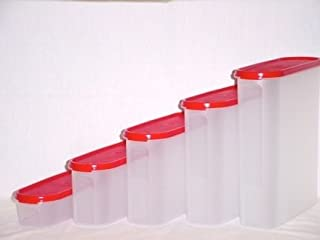 Tupperware MODULAR MATES SUPER OVAL Pantry Set NEW Red