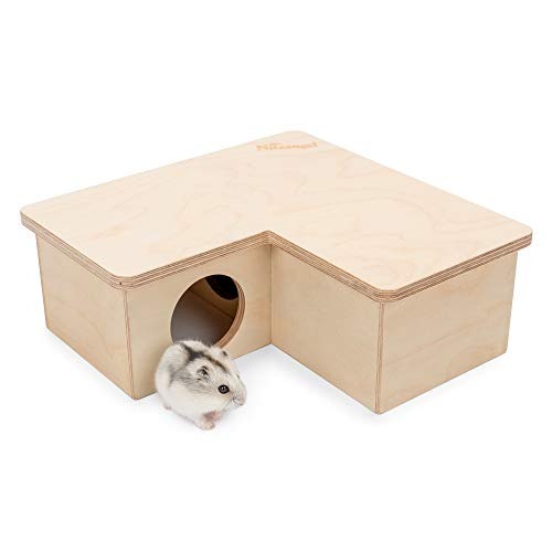 Niteangel Multi-Chamber Hamster House Maze: - Multi-Room Hideouts & Tunnel Exploring Toys for Hamster Gerbils Mice Lemmings Rats and Other Small Rodents (6-Room Small)