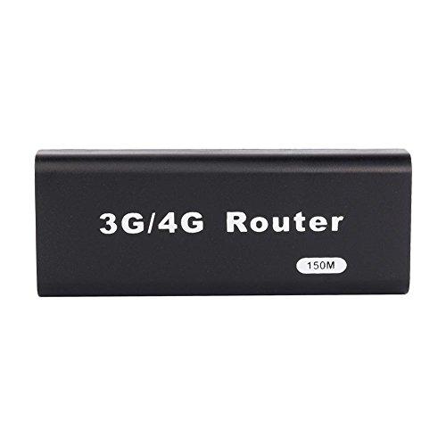 Lazmin Mini WiFi Router, USB Wireless Router, Portátil Mini 3G / 4G WiFi Router, 150 Mbps, Compatible con Todos los Sistemas operativos, Conecta y Reproduce(Negro)