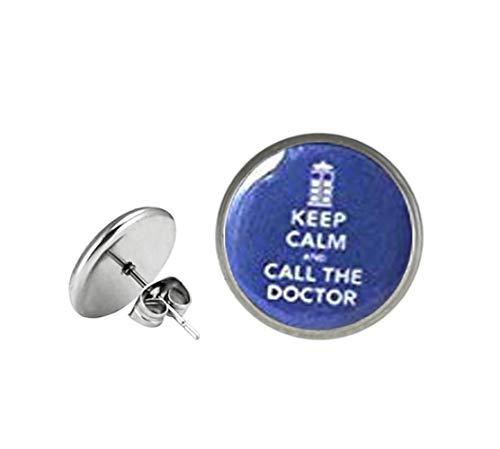 Pendientes Keep Calm and Call the Doctor- Doctor Who - Keep Calm Call, un hermoso regalo