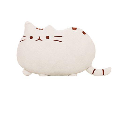 Weichem Plüsch Süße Katze Form Kissen kissenpolster Sofa Spielzeug Wohnkultur 5 Farbe (Weiß)
