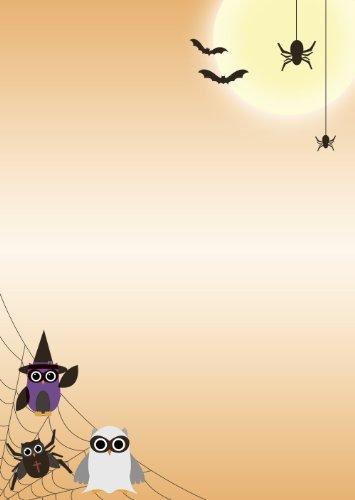 Briefpapier Motivpapier Halloween Spider-Eulen 20 Blatt DIN A4 90 g/m² 5221