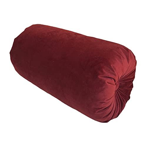 Generic Cuscino per Letto Hug Bolster per Dormire Cuscino Lungo Cuscino per Cuscino Rotondo con Fodera per pisolino - Vino Rosso