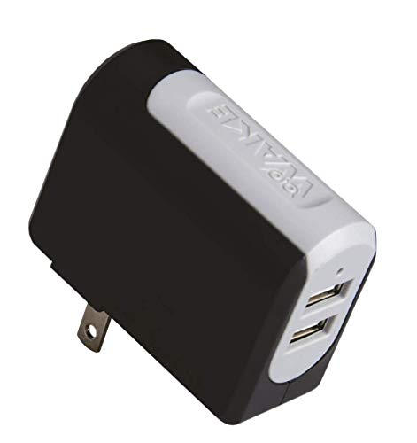 WAKE OEM Wall Charger Home/Travel 2Port 3.4Amp - Micro to USB Cable 5 Ft(1.5Mts) for Samsung Galaxy, Nexus, HTC, Motorola, LG and More (Black)