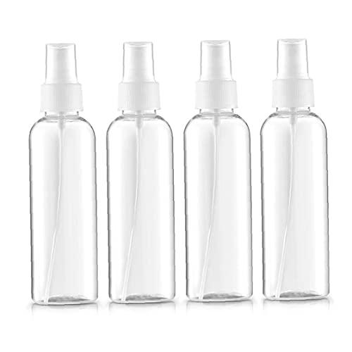 4pcs / Set De Plástico Transparente En Spray Botellas De La Niebla Fina Niebla Reutilizable Botellas Del Aerosol Del Atomizador Líquido De La Pipeta Para Contenedores De Aceites Esenciales, Viajes,