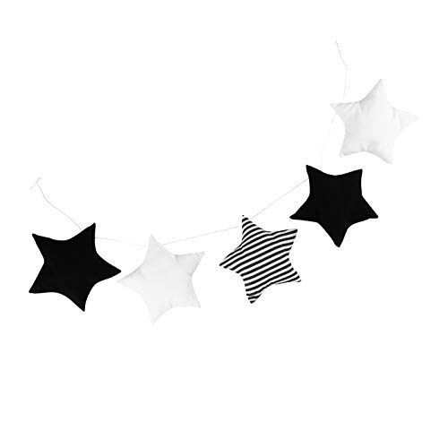 VOSAREA Baby Room Star Garland Stars Hanging Pendents Baby Photography Props for Nursery Decor and Ceiling Decoration Black