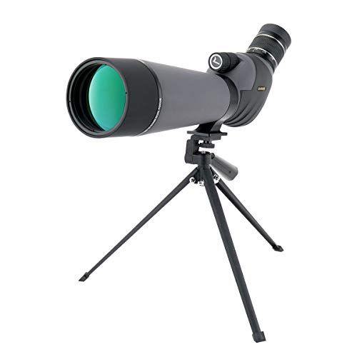 SVBONY SV409 Spotting Scope 20-60x80 Dual Focus Telescope Waterproof for Bird Watching Archery Target Shooting Outdoor Activities with Case and Tripod