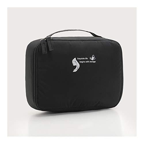 Sac cosmétique Voyage Waterproof Organisateur Portable Trousse Femmes Mode Sacs Valise et Toilette Big Sacs de Maquillage Rose (Color : Black)