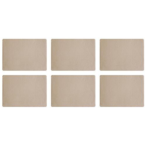 ASA Lot de 6 sets de table imitation cuir 46 x 33 cm