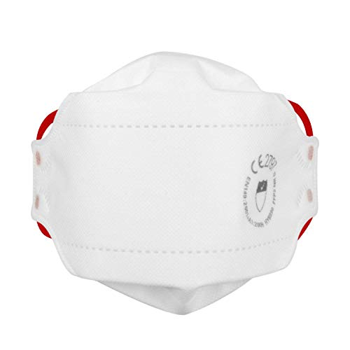 FFP3 Maske Atemschutzmaske Ohne Ventil En149: 2001 Und A1: 2009 CE Zertifiziert, faltbar, Kopfband Mit Gepolstert Futter für Zusätzlichen Komfort Security (Pack 5)