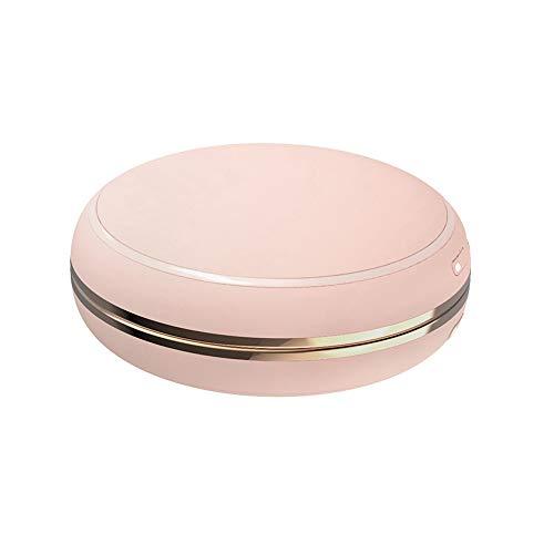 Timagebreze Calentador de Manos PortáTil con Espejo 10000MAh Banco de EnergíA Bolsillo de Carga USB Calentador EléCtrico de EnergíA MóVil-Rosa