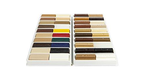 Picobello G14400 Weichwachs & Hartwachs Set groß / 40 Stangen, Viele Holzfarbtöne und Grundtöne, XL