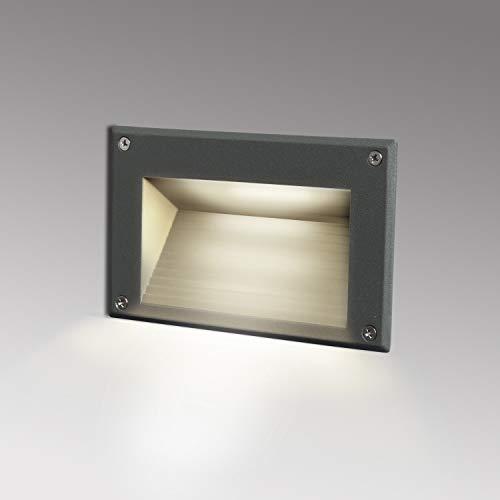 Topmo-plus luz de pared empotrada LED Luz Subterranea Escaleras de Paso subterráneo...