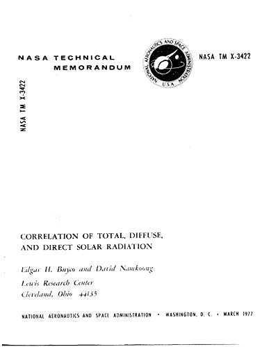 Correlation of total, diffuse, and direct solar radiation (English Edition)