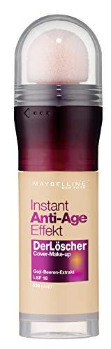 Maybelline New York Make Up mit LSF 18 und Anti-Aging Effekt, Instant Anti-Age Löscher Foundation, Nr. 30 Sand, 20 ml