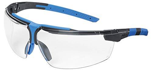 Uvex Arbeitsschutz- Bügelbrille 9190 i-3, Farbe: anthrazit/blau, Scheibe: farblos, Schutz: 2-1,2