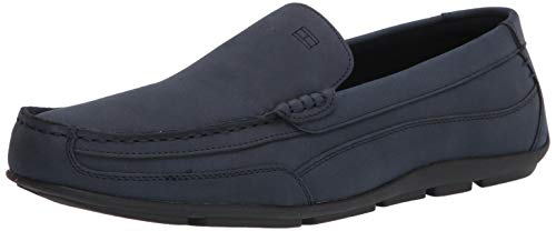Tommy Hilfiger Men's Dathan Driving Style Loafer, Navy Suede, 10.5