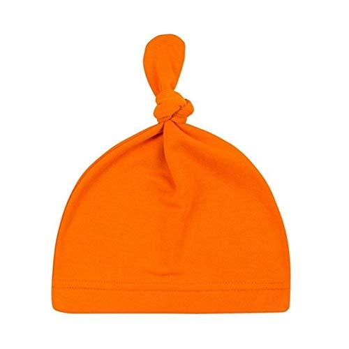 Sombrero de algodón con Nudo de bebé de 16 Colores, Gorros de Primavera otoño para niños pequeños, Gorro de Invierno para niñas, Gorro de Invierno cálido de Color sólido-a12-One Size