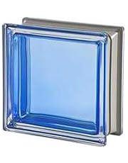 5 piezas Seves vitroladrillos Mendini zafiro metalizado 19 x 19 x 8
