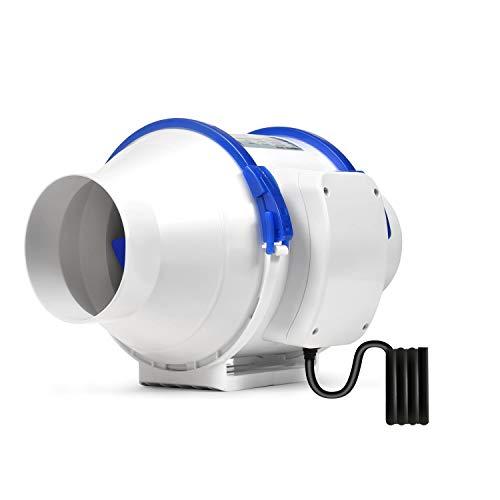 Hon&Guan Ventilador Extractor de Conducto en Línea para Baño, Invernaderos, Hidropónicos (ø100mm)