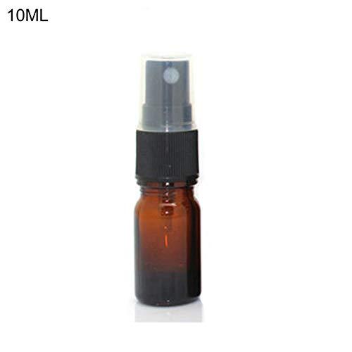 Mini 5-100ml Spray Bottle, Beauty Empty Amber Glass Bottles, Refillable Travel Bottle For Essential Oil Mist Spray Container 10ml