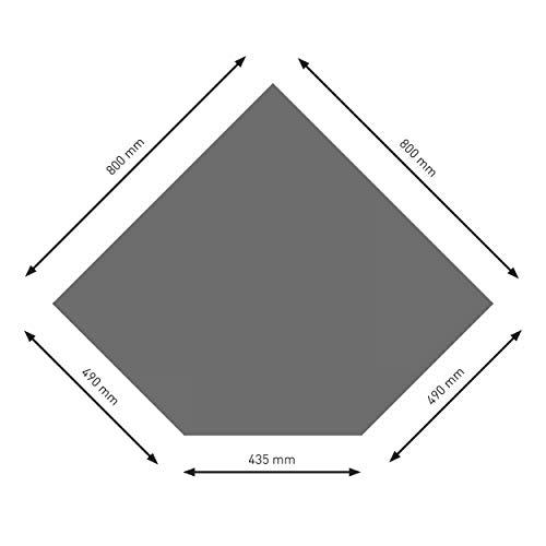 Schindler + Hofmann PU055-2B5-gg Bodenplatte B5 Diamant gussgrau pulverbeschichtet 800 x 800 mm